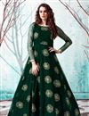 image of Party Style Dark Green Color Designer Gown In Net Fabric
