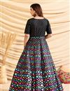 photo of Designer Party Style Art Silk Fabric Black Color Gown