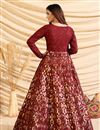 photo of Party Style Maroon Color Designer Gown In Art Silk Fabric