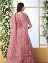 photo of Designer Pink Color Party Wear Readymade Gown In Net Fabric