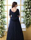 photo of Eid Special Net Fabric Designer Navy Blue Color Readymade Party Wear Gown
