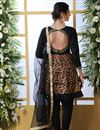 picture of Party Style Black Color Thread Embroidered Designer Suit In Art Silk Fabric