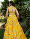 picture of Occasion Wear Lehenga In Yellow Color Crepe Silk Fabric