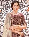 photo of Maroon Color Printed Function Wear Lehenga Choli In Tafetta Silk Fabric