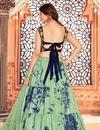 picture of Cotton Fabric Festive Wear Sea Green Color Printed Lehenga Choli