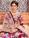 photo of Peach Color Printed Sangeet Wear Lehenga Choli In Tafetta Silk Fabric