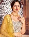 photo of Cotton Fabric Printed Wedding Wear Lehenga Choli In Yellow Color