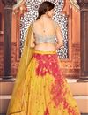 picture of Cotton Fabric Printed Wedding Wear Lehenga Choli In Yellow Color
