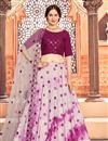 image of Pink Color Function Wear Cotton Fabric Printed Lehenga Choli