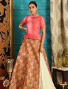image of Traditional Function Wear Designer Jacquard Fabric Multi Color Lehenga Choli