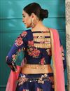 photo of Function Wear Designer Navy Blue Lehenga Choli In Jacquard Fabric