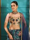 photo of Multi Color Function Wear Fancy Jacquard Fabric 3 Piece Lehenga Choli