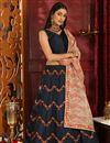 image of Function Wear Designer Art Silk Lehenga Choli In Navy Blue
