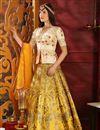image of Yellow Function Wear Designer Art Silk Fancy Lehenga Choli