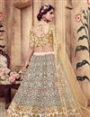 photo of Exemplary Art Silk Fabric Beige Color Wedding Wear Lehenga Choli