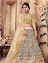 image of Exemplary Art Silk Fabric Beige Color Wedding Wear Lehenga Choli