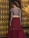 photo of Georgette Fabric Sangeet Wear Lehenga