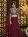 image of Georgette Fabric Sangeet Wear Lehenga
