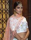 photo of Elegant Light Cyan Color Festive Wear Cotton Fabric Lehenga Choli