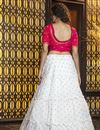 picture of White Color Festive Wear Elegant Cotton Fabric Lehenga