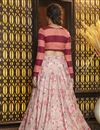 picture of Pink Color Festive Wear Rayon Fabric Elegant Lehenga