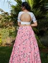 picture of Embroidery Work Occasion Wear Lehenga In Pink Color