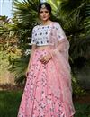 image of Embroidery Work Occasion Wear Lehenga In Pink Color