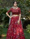 image of Maroon Color Designer Printed Lehenga Choli