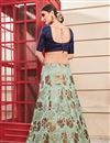 photo of Sea Green Color Art Silk Fabric Festive Wear Lehenga With Embroidery Work