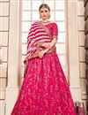 image of Rani Designer Bridal Lehenga With Embroidery Work On Art Silk Fabric