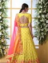 photo of Yellow Color Wedding Wear 3 Piece Lehenga In Art Silk Fabric With Embroidery Work