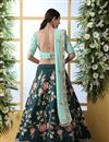 photo of Embroidered Wedding Wear Lehenga Choli In Art Silk Fabric Teal Color