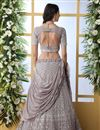 photo of Dark Beige Color Function Wear Designer Embroidered Lehenga In Georgette Fabric