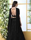 photo of Designer Embroidered Black Color Function Wear Georgette Fabric Lehenga Choli