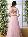 photo of Pink Color Function Wear Georgette Fabric Embroidered Designer Lehenga