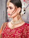 photo of Embroidered Sky Blue Sangeet Wear Designer Lehenga In Banarasi Silk Fabric