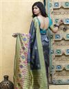 photo of Function Wear Grey Color Fancy Saree In Art Silk Fabric