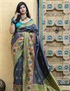 image of Function Wear Grey Color Fancy Saree In Art Silk Fabric