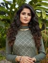 photo of Grey Color Casual Wear Stylish Cotton Fabric Kurti
