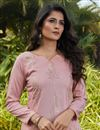 photo of Casual Wear Pink Color Cotton Fabric Kurti
