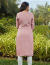 picture of Casual Wear Pink Color Cotton Fabric Kurti