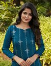 photo of Teal Color Daily Wear Kurti In Cotton Fabric