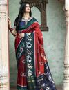 image of Festive Wear Red Color Chic Art Silk Patola Weaving Work Saree