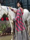 photo of Navy Blue Color Festive Wear Art Silk Patola Style Weaving Work Saree