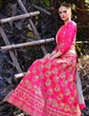 photo of Embroidery Work On Rani Designer Lehenga Choli In Art Silk Fabric
