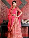 image of Art Silk Fabric Party Wear Lehenga In Pink With Embroidery Work With Designer Blouse