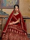 photo of Maroon Embroidered Velvet Fabric Party Wear Lehenga With Alluring Blouse