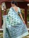 picture of Art Silk Fabric Sea Green Color Saree For Wedding Function