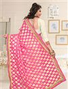 photo of Pink And Off White Color Designer Party Wear Georgette Fabric Saree