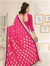 photo of Designer Party Wear Georgette Fabric Saree In Pink Color